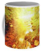 Mountain Stream In Summer Mist Coffee Mug