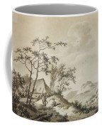 Mountainous Landscape With Three Ramblers Coffee Mug