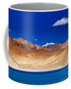 Mountains And Rocks Pangong Tso Lake Leh Ladakh Jammu Kashmir India Coffee Mug