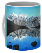 Mountains Landscape Acrylic Painting Coffee Mug