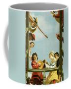 Musical Group On A Balcony Coffee Mug