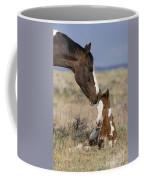 Mustang Mare And Foal Coffee Mug