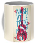 Nashville Poster - Tennessee Coffee Mug by Jim Zahniser