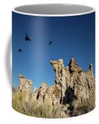 Natural Rock Formation And Wild Birds At Mono Lake, Eastern Sier Coffee Mug