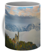 Neuschwanstein Castle Landscape Coffee Mug