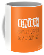 New York Coordinates Coffee Mug