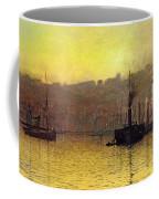Nightfall In Scarborough Harbour Coffee Mug