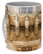 Noto, Sicily, Italy - Detail Of Baroque Balcony, 1750 Coffee Mug