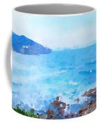 Ocean Coastline Watercolor Coffee Mug
