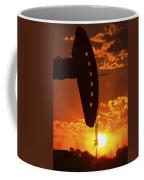 Oil Rig Pump Jack Silhouetted By Setting Sun Coffee Mug