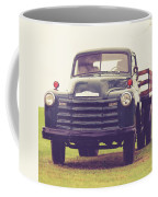 Old Chevy Farm Truck In Vermont Square Coffee Mug
