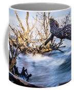 Old Dead Trees On Shores Of Edisto Beach Coast Near Botany Bay P Coffee Mug