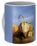 Old Dilapidated Wooden Boat  Coffee Mug