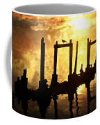 Old Pier At Sunset Coffee Mug