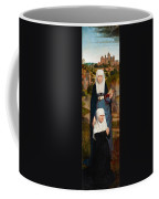 Old Woman At Prayer With St. Anne Coffee Mug