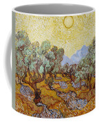 Olive Trees With Yellow Sky And Sun Coffee Mug