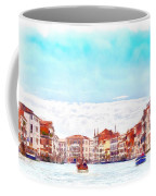 On A Boat Trip On The Grand Canal In The Beautiful City Of Venice In Italy Coffee Mug