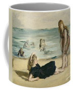 On The Beach Coffee Mug by Edouard Manet