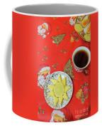 On The Eve Of Christmas. Tea Drinking With Cheese. Coffee Mug