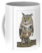 Owl In Pose Coffee Mug