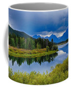Oxbow Bend Storm Clouds Coffee Mug