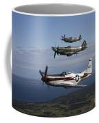 P-51 Cavalier Mustang With Supermarine Coffee Mug