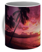 Palms Against Pink Sunset Coffee Mug