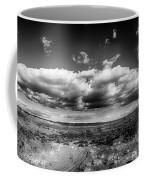 Panorama Of A Valley In Utah Desert With Blue Sky Coffee Mug
