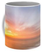 Panoramic Sunset Overtorrey Pines, San Diego Beach, California Coffee Mug