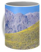 Panoramic View Of Desert Gold Yellow Coffee Mug