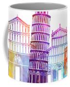 Barcelona Landmarks Watercolor Poster Coffee Mug