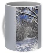 Path In Winter Forest Coffee Mug