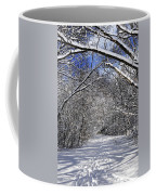 Path In Winter Forest Coffee Mug