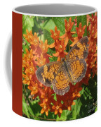Pearly Crescentspot Butterfly Coffee Mug