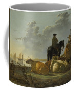 Peasants And Cattle By The River Merwede Coffee Mug