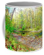 Pennsylvania Stream In Autumn, Digital Art Coffee Mug