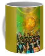 People Enjoying Inside Durga Puja Pandal Durga Puja Festival Coffee Mug