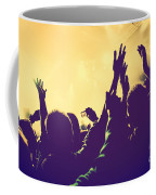 People With Hands Up In Night Club Coffee Mug