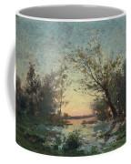 Per Ekstrom, French Landscape In Sunset. Coffee Mug