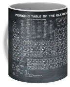 Periodic Table Of Elements In Black Coffee Mug