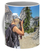 Photographer In Yosemite Waterfalls Coffee Mug