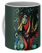 Picasso's Girl Beside A Mirror Coffee Mug