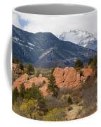 Pikes Peak From Red Rocks Canyon Coffee Mug