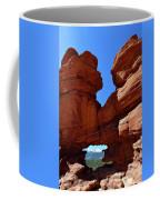 Pikes Peak Through Natural Window Coffee Mug
