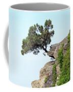 Pine Tree On A Rock Coffee Mug