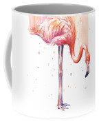 Pink Flamingo - Facing Right Coffee Mug