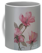 Pink Floral Coffee Mug by Ginny Youngblood