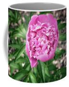 Pink Peony Print Coffee Mug