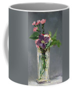 Pinks And Clematis In A Crystal Vase Coffee Mug