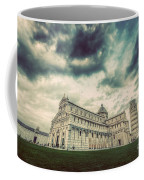 Pisa Cathedral With The Leaning Tower Of Pisa, Tuscany, Italy. Vintage Coffee Mug